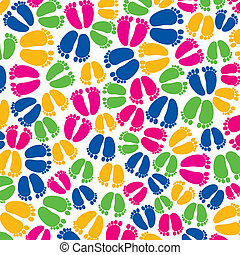 colorful foot random pattern