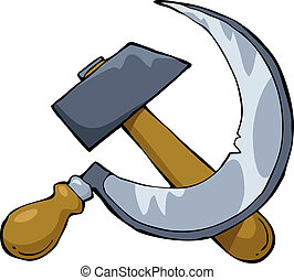 Hammer and sickle on a white background vector illustration
