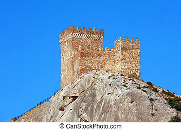 Genoese fortress - Ancient consular castle. Genoese...