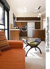 Living room - Modern furniture set living room in cottage