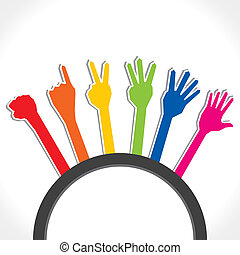 counting number from zero to five stock vector