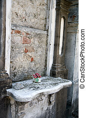 Old New Orleans Tomb - decaying tomb in Lafayette Cemetery...