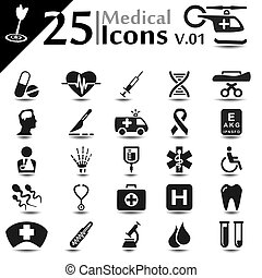 Medical Icons v01 - Medical icons set, basic series