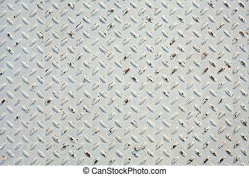 White diamond metal background