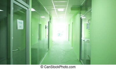 Corridors under construction of the new office - Moving the...