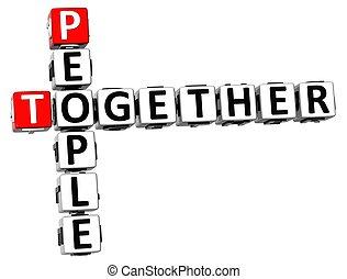 3D People Together Crossword
