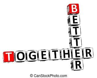 3D Better Together Crossword