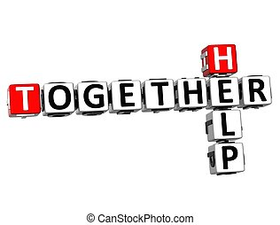 3D Help Together Crossword
