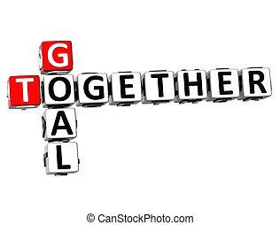 3D Goal Together Crossword