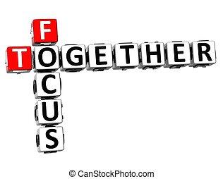 3D Focus Together Crossword