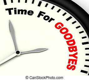 tiempo, para, Goodbyes, mensaje, Significado, despedida, o,...
