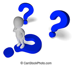 Question Marks Around Man Showing Confusion And Not Sure -...