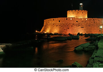 Rhodes Tower of St. Nicholas, Greece - Tower of St. Nicholas...