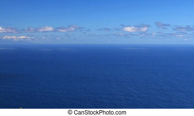 Deep Blue Sea - High up view overlooking a blue Pacific...