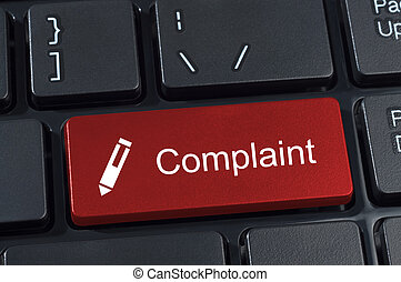 Complaint button keyboard with pen icon. - Complaint button...