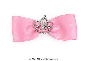 Fancy bow - Fancy pink bow isolated on white background with...