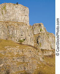 Limestone cliffs Somerset - Cheddar Gorge Somerset