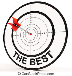 The Best Means Victory Achievement And Excellence - The Best...