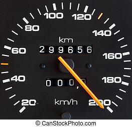 Speed meter - Close up of car speed meter