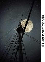 Discoveries - Topmast and cables of an old portuguese ship...