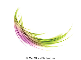 abstract shape - green and purple round shape