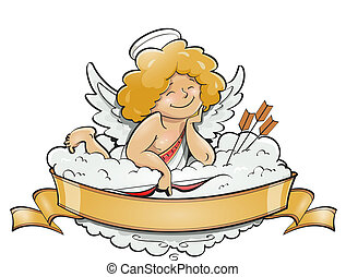 love angel cupid for valentine's day vector illustration...