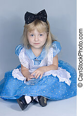 Little Alice - A little girl in an Alice in Wonderland...