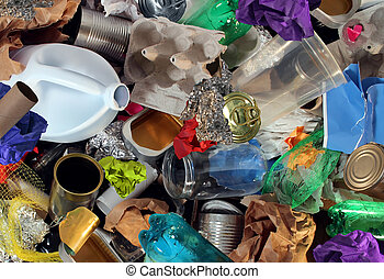 Recycling Garbage - Recycling garbage and reusable waste...