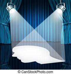 Spotlight On The Brain - Spotlight on the brain with lights...