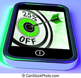 25 Percent Off On Smartphone Shows Selected Discounts And...