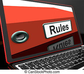 Rules File On Laptop Showing Policies