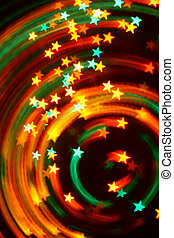 disco stars - abstract disco colored stars - blurred motion...