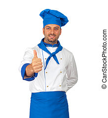 Chef - Young chef with blue hat