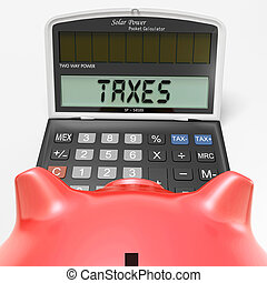 Taxes On Calculator Shows HMRC Return Due - Taxes On...