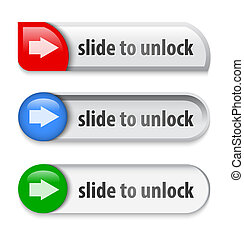 Slider interface elements with arrow sign. Vector...