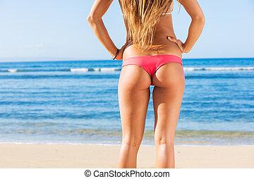 young sexy woman in bikini