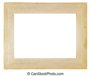 Vintage photo frame isolated on a white background. Clipping...