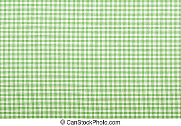 Checkered green fabric - Checkered fabric closeup - series -...