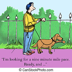 """Thirty minutes to run and get back to work - """"I'm looking..."""
