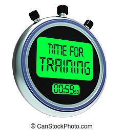 Time For Training Message Shows Coaching And Instructing