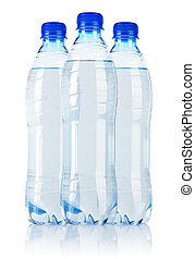 Three water bottle - Three Soda water bottle isolated on...