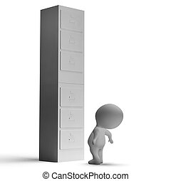 High Filing Cabinet Shows Overworked And Overloaded - High...