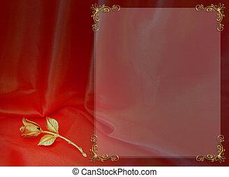Wedding or Valentine Border - Image and illustration...