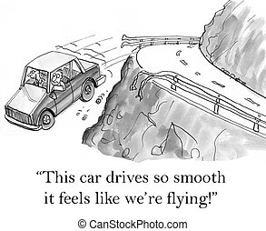 "Smiling passenger does not notice car is airborne - ""This..."