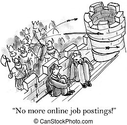 """Worried boss is besieged by army of applicants - """"No more..."""
