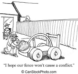 "I hope our fence does not offend - ""I hope our fence won't..."