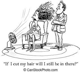 Woman wonders if she is all hair - If I cut my hair will I...