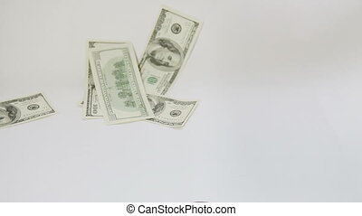 Man paying with american dollars
