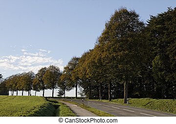 Country road in autumn, Germany - Country road in autumn,...