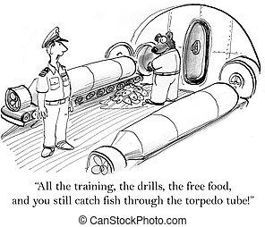 "Bear on submarine grabs fish through tube - ""All the..."